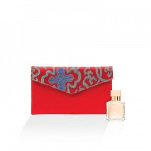 The Royal Embroidery Silk Satin Envelope Clutch
