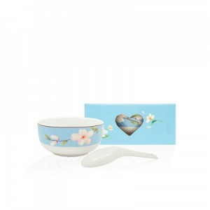 Sakura Rice Bowl Set with Spoon