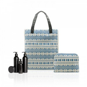 BE Printed Shopper Tote Set