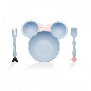 Micky Wheat Straw Cutlery & Food Tray