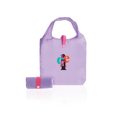Logo Prints Purple Folded Eco Bag