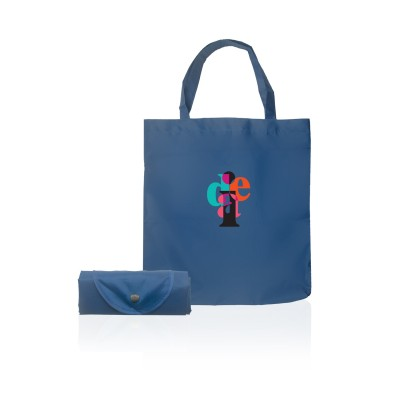Logo Prints Blue Folded Eco Bag
