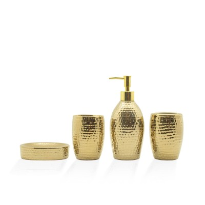 Cyra Gold Bathroom Set